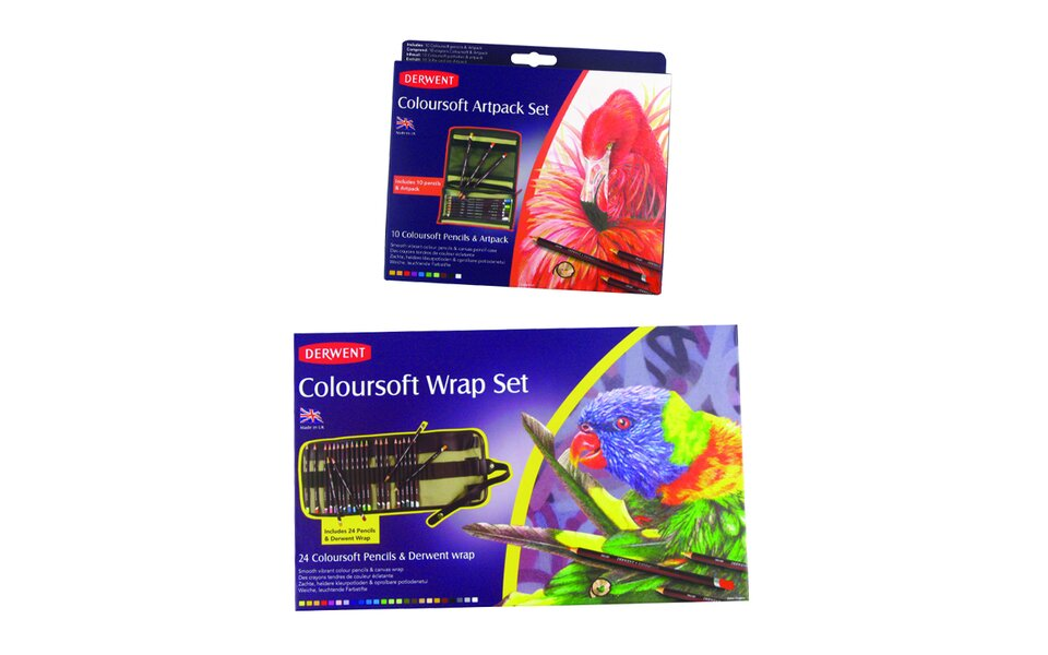 NEW Derwent Coloursoft Gift Sets