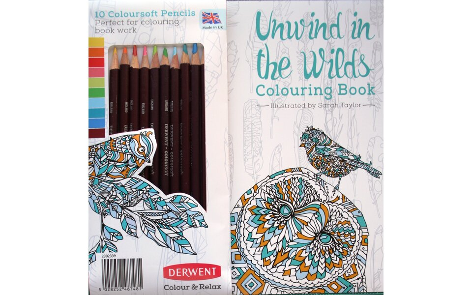 Derwent Launches Stunning Colouring Book 'Unwind in the Wilds'