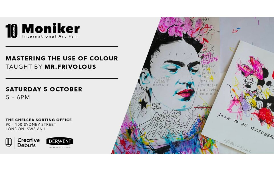 """""""Mastering the use of colour, working with coloured pencils to shade different tones. Taught by Mr.Frivolous"""" - Moniker Art Fair Workshop"""