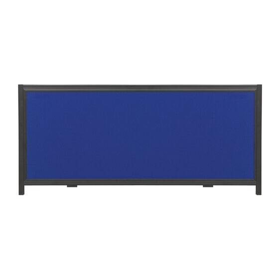 """Quartet® Show-It!® Display System Header Panel, 24"""" x 10"""",  Double-sided, Blue/Gray"""