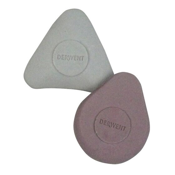Derwent Shaped Erasers, Pack, 2 Count