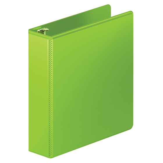 """Mead® Heavy Duty 2"""" D-Ring View Binder, Chartreuse"""