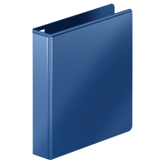 """Mead® Heavy Duty D-Ring View Binder with Extra Durable Hinge, 1 1/2"""", Navy"""