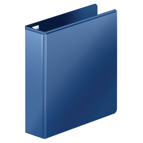 """Mead® Heavy Duty D-Ring View Binder with Extra Durable Hinge, 2"""", Navy"""