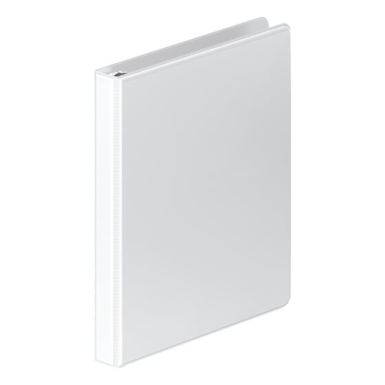 Customizable White 363 Series 4 Pack Wilson Jones Heavy Duty Round Ring View Binder with Extra Durable Hinge 1 Inch W70363-14