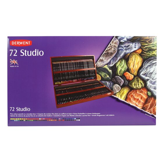 Studio Pencils 72 Wooden Box