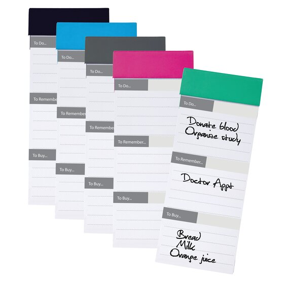 """Magnetic Notepad, 3"""" x 7 1/2"""", Assorted Colors"""