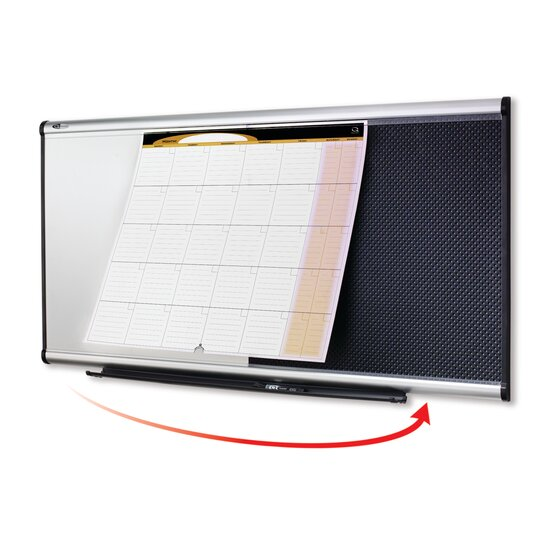 Quartet® Prestige® 3-in-1 Combination Boards, Aluminum Frame