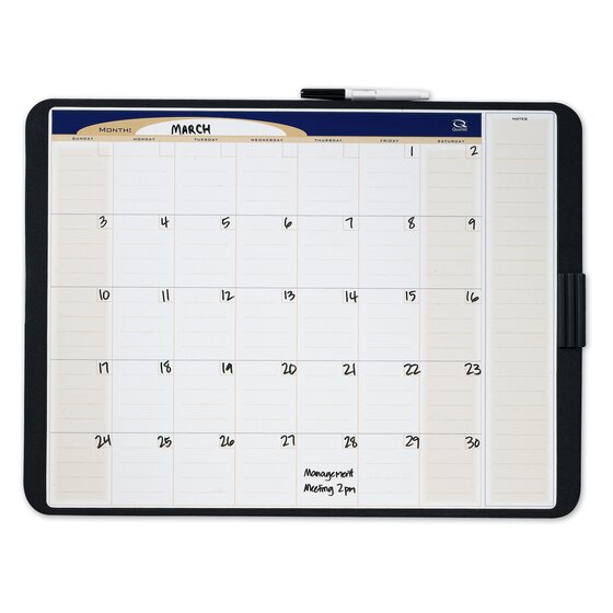 Quartet® Designer™ Tack & Write® Monthly Calendars