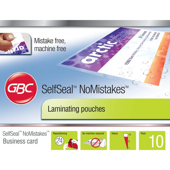 SelfSeal Pouches Business Card Size 8 Mil 10 pcs