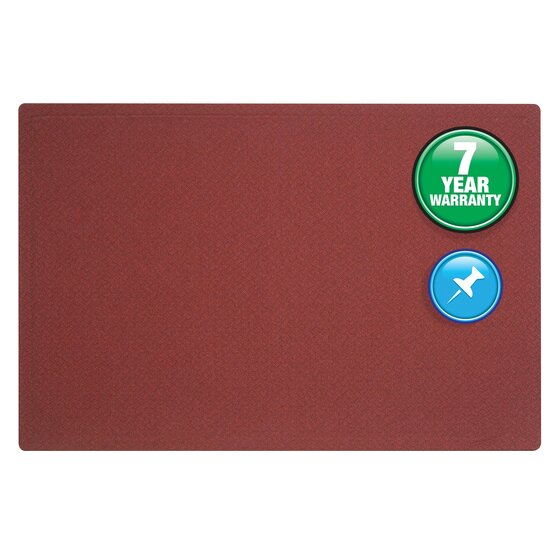 Quartet® Oval Office™ Fabric Bulletin Boards, Port Burgundy Fabric