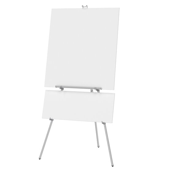 """Quartet® Aluminum Heavy Duty Display Easel, 66"""" Max. Height, Supports 45 Lbs., Silver"""
