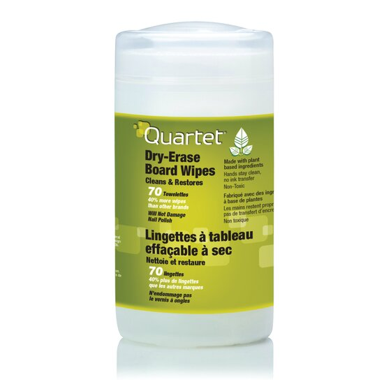 Quartet® BoardWipes™ Whiteboard Cleaning Wipes, 70 Count