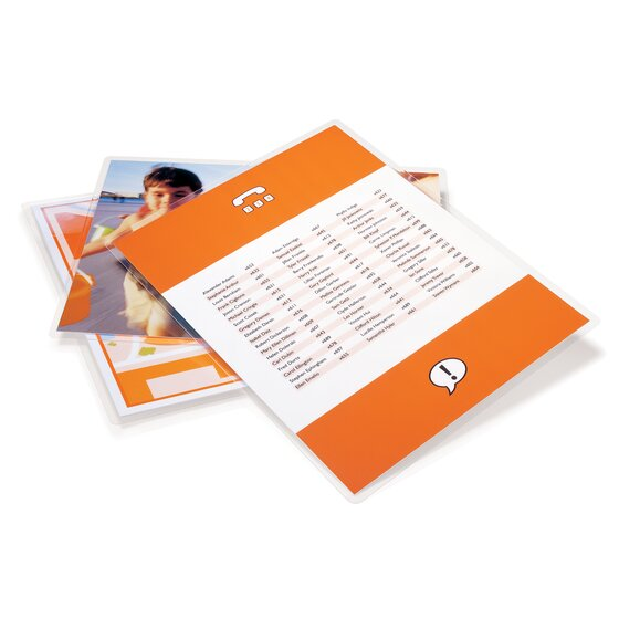 GBC HeatSeal Crystal Clear Thermal Laminating Pouches