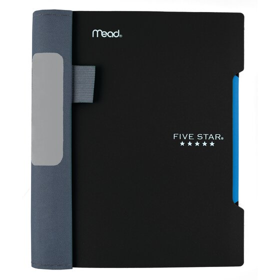 """Five Star Advance  Wirebound Notebook, 1 Subject, 7"""" x 5"""", College Ruled, Black"""