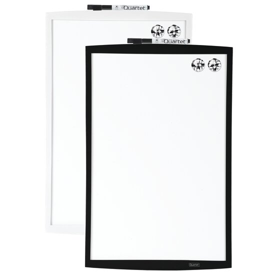 """Magnetic Dry-Erase Board, 11"""" x 17"""", Curved Frame, Assorted Colors"""