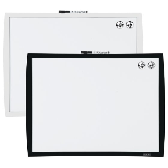"""Magnetic Dry-Erase Board, 17"""" x 23"""", Curved Frame, Assorted Colors"""
