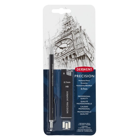 Precision Mechanical Pencil HB 0.7 Set