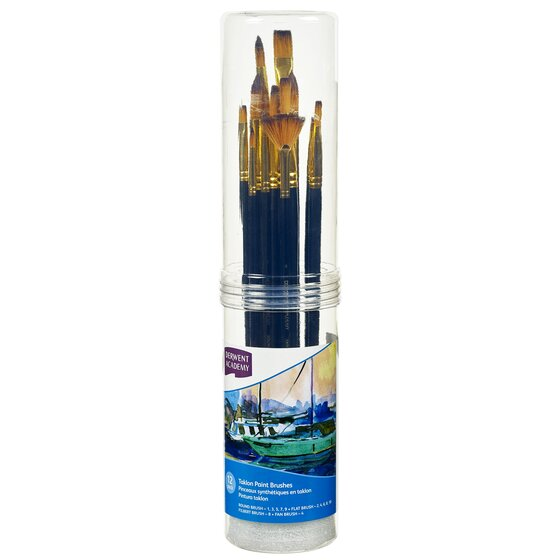 Taklon Large Brush Set Cylinder 12 Pack