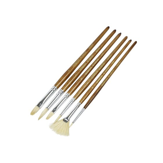 Hogs Hair Large Brush Set Acetate 6 Pack