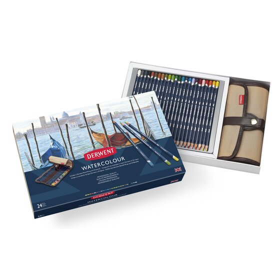 Derwent Watercolour 24 Wrap Set