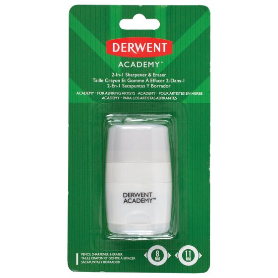 Derwent Academy 2-In-1 Pencil Sharpener & Eraser