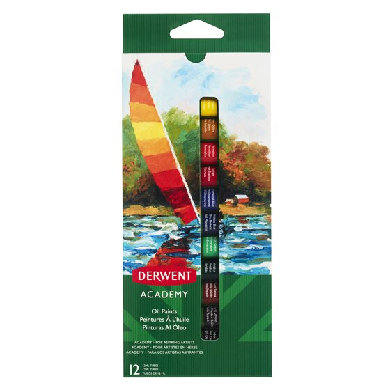 Derwent Academy Oil Paints 12ml 12 Pack