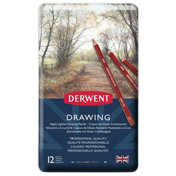 Drawing Pencils 12 Tin