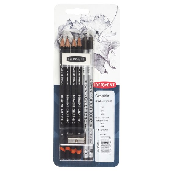 Derwent Graphic Pencil Mixed Media, Pack, 8 Count