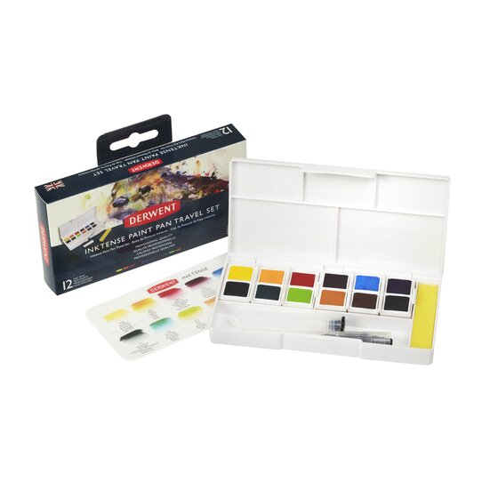 Derwent Inktense Paint Pan Travel Set Palette #01