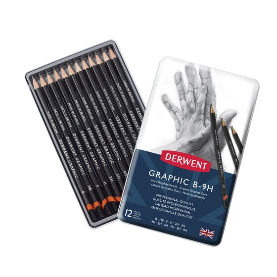 Graphic Hard Pencils 12 Tin