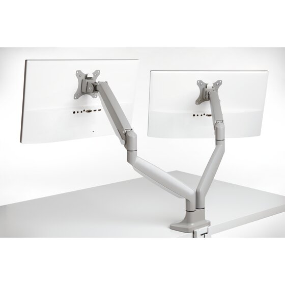 SmartFit® One Touch Height Adjustable Dual Monitor Arm