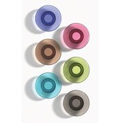 Glass Board Magnets, Large, 6 Pack, Assorted Colors