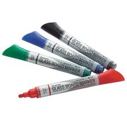 Premium Glass Board Dry-Erase Markers, Assorted Colors, 4 Pack