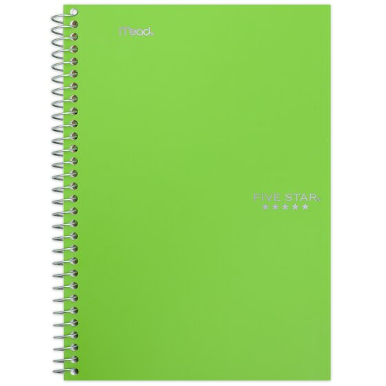 Five Star Wirebound Notebooks, 2 Subject, College Ruled