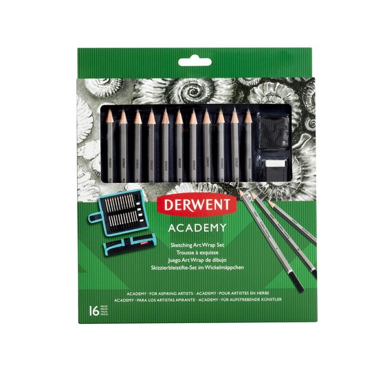 Derwent Academy Sketching Art Wrap Set