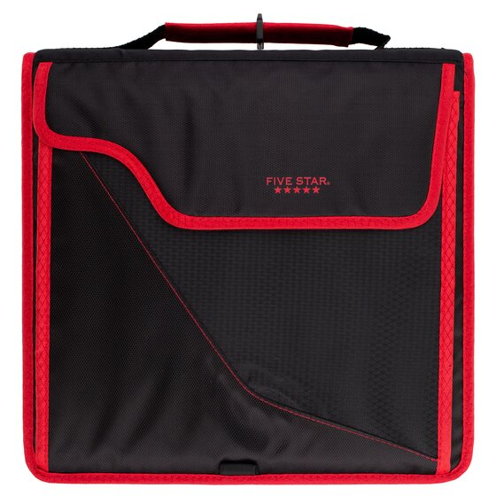 "Five Star 3"" Sewn Zipper Binders + Removable Padded Cases"