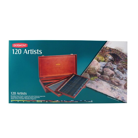 Artists Pencils 120 Wooden Box