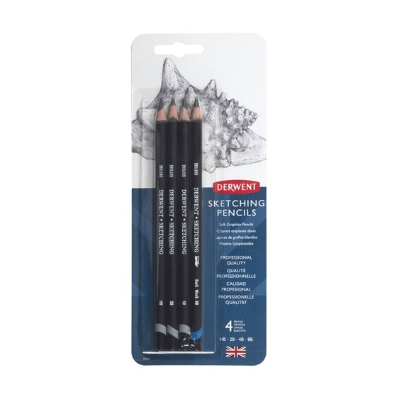Derwent Sketching Pencils, 4mm Core, Pack, 4 Count