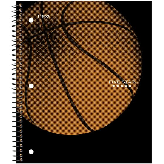 Five Star Sports Wirebound Notebook, 1 Subject, Wide Ruled