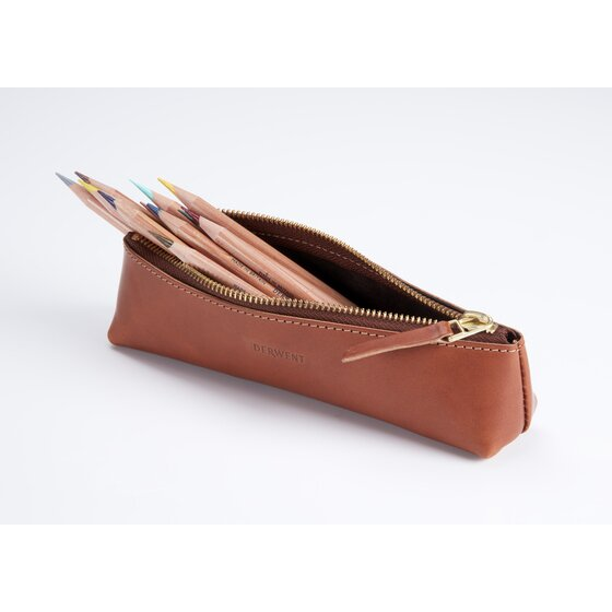 Derwent Leather Pencil Case Tan