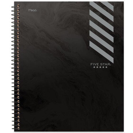 Five Star Graphics Wirebound Notebook, 1 Subject, College