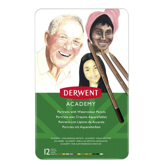 Derwent Academy Watercolour Skintones 12 Tin