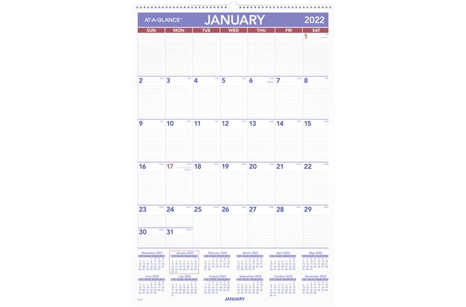 At A Glance Wall Calendar 2022.At A Glance 2022 Monthly Wall Calendar Large 20 X 30 Monthly Wall Calendars At A Glance