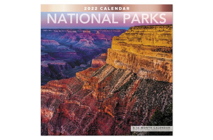 National Calendar 2022.National Parks 2022 Monthly Wall Calendar 12 X 12 Wall Calendars Mead